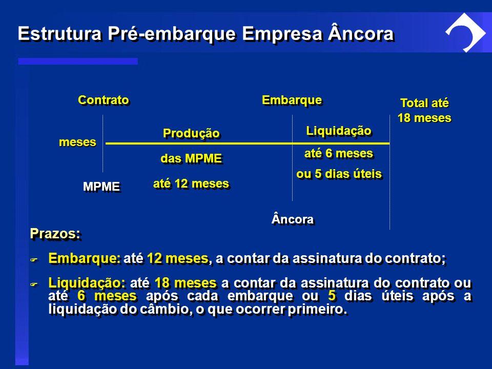 Estrutura Pré-embarque Empresa Âncora