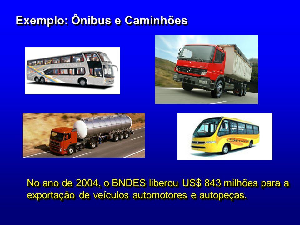 Exemplo: Ônibus e Caminhões