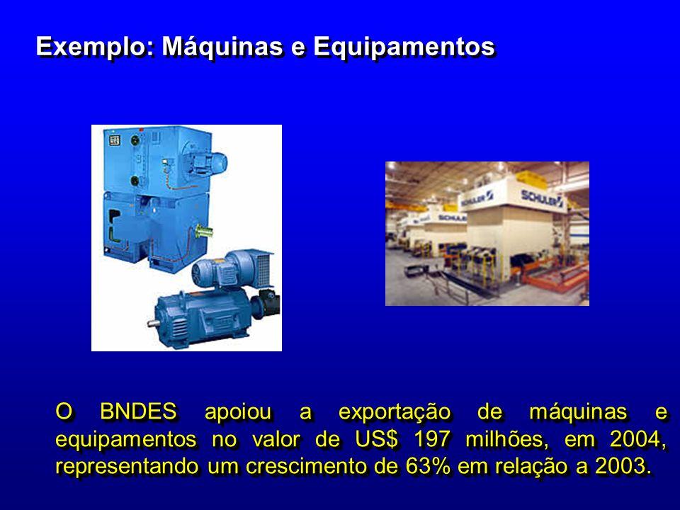 Exemplo: Máquinas e Equipamentos