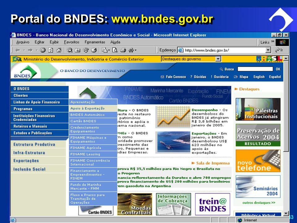 Portal do BNDES: www.bndes.gov.br