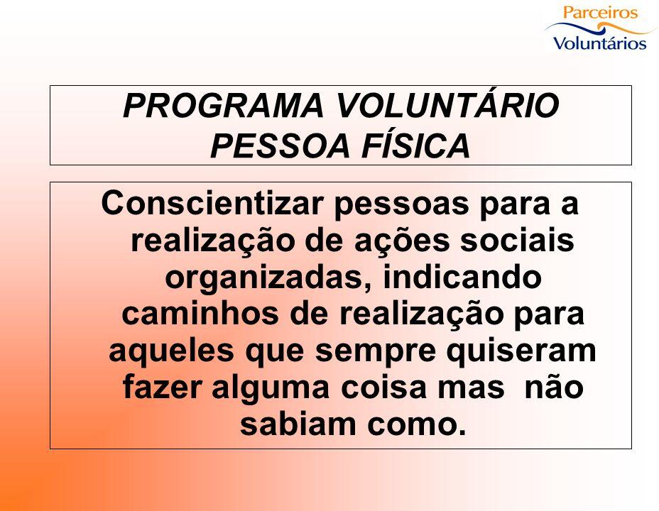 PROGRAMA VOLUNTÁRIO PESSOA FÍSICA