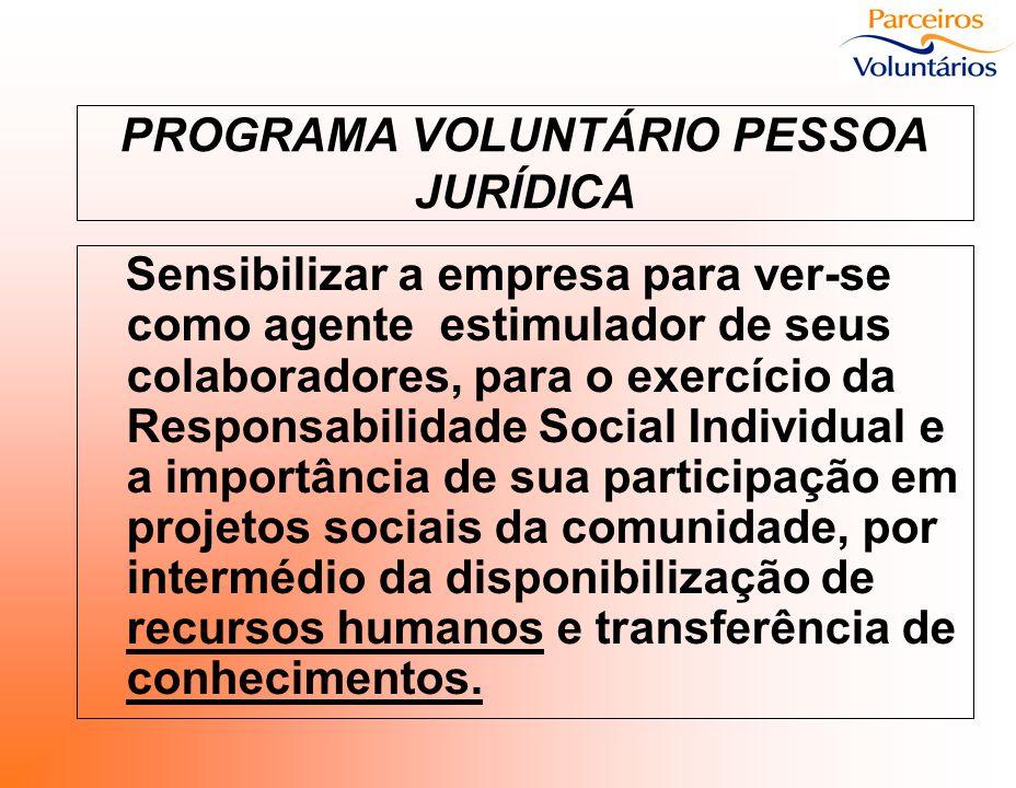 PROGRAMA VOLUNTÁRIO PESSOA JURÍDICA