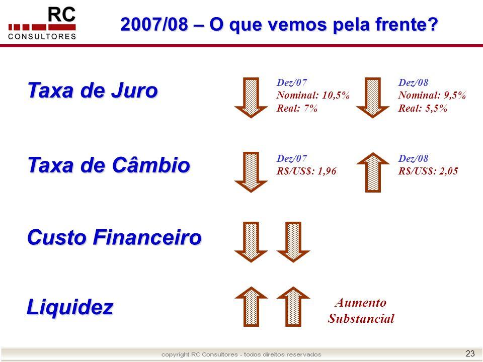2007/08 – O que vemos pela frente