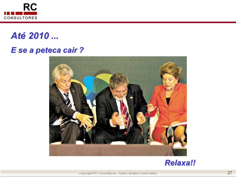 Até 2010 ... ............ E se a peteca cair Relaxa!!