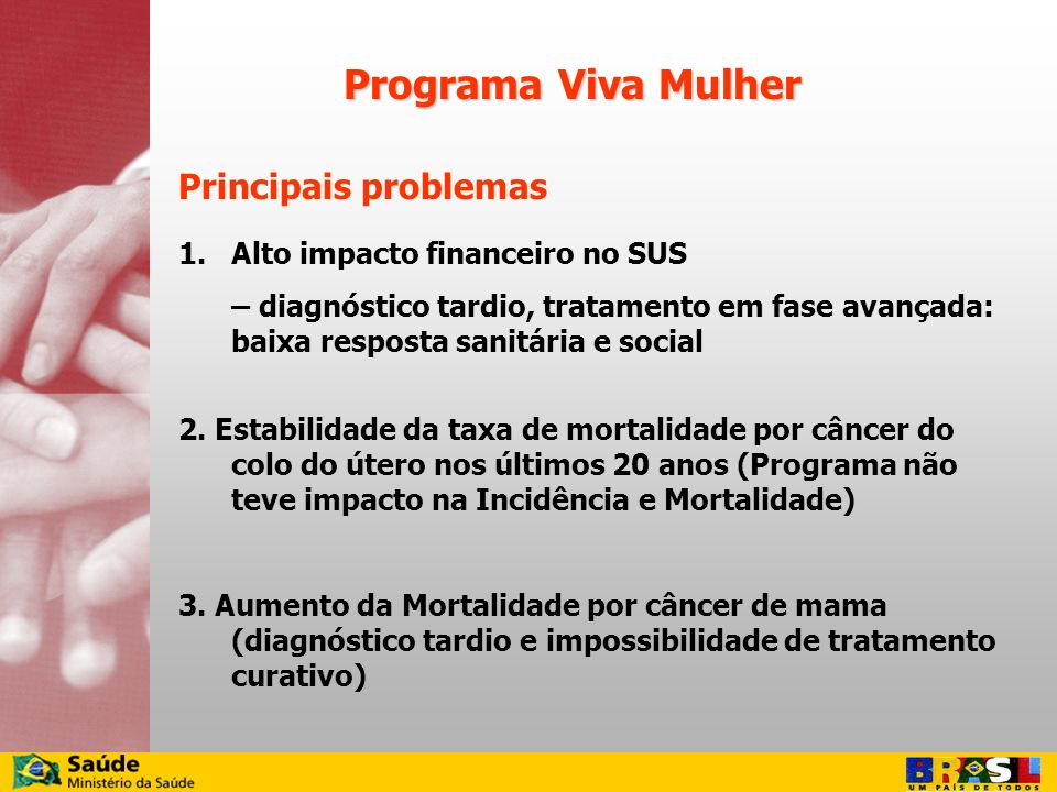 Programa Viva Mulher Principais problemas