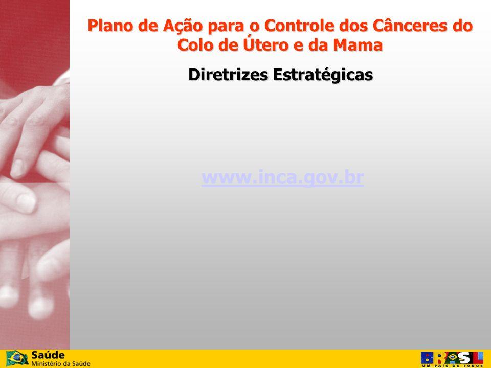 Plano de Ação para o Controle dos Cânceres do Colo de Útero e da Mama
