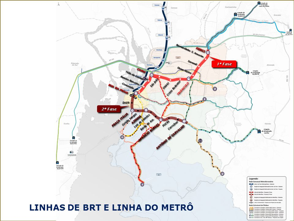 Linhas de BRT E Linha do Metrô