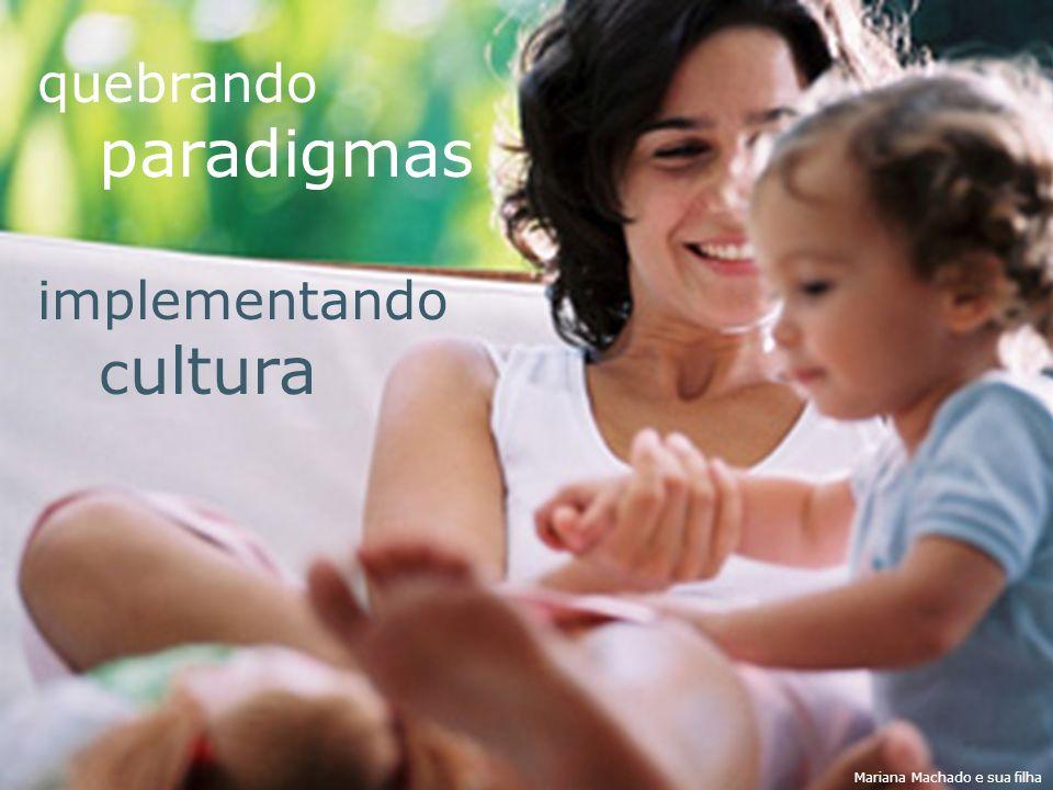 quebrando paradigmas implementando cultura Mariana Machado e sua filha