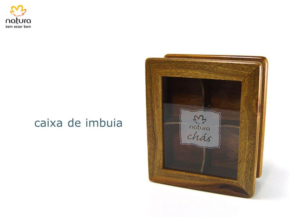 caixa de imbuia A Natura vendia Caixa de Chá feita de imbuia não certificada uma. O fato foi alertado por uma consumidora.