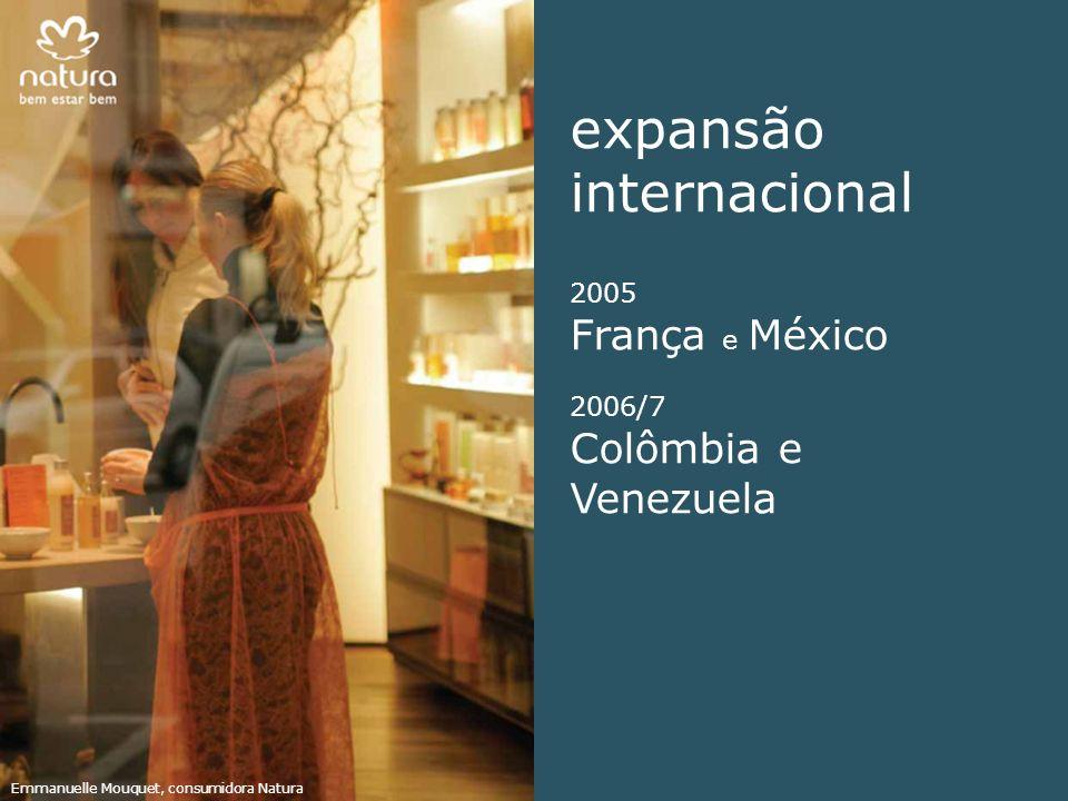 expansão internacional França e México Colômbia e Venezuela 2005
