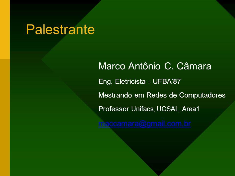 Palestrante Marco Antônio C. Câmara maccamara@gmail.com.br