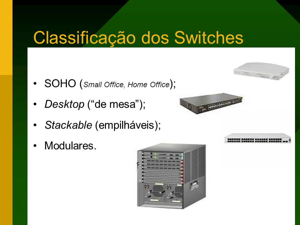 Classificação dos Switches