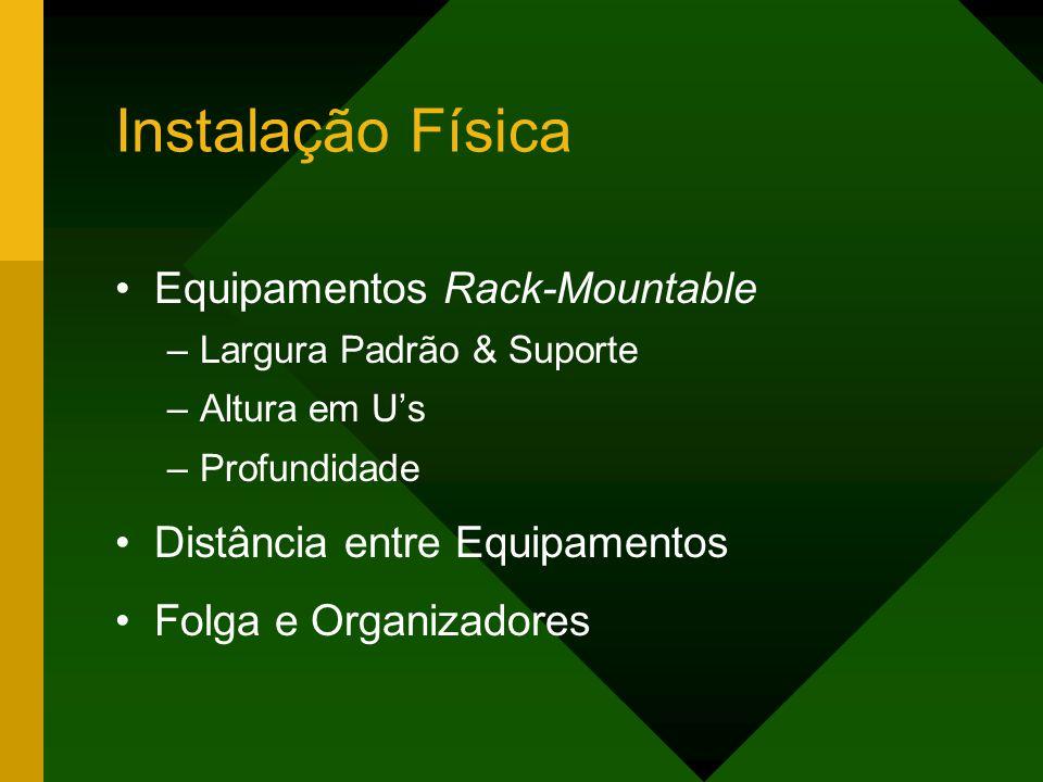 Instalação Física Equipamentos Rack-Mountable