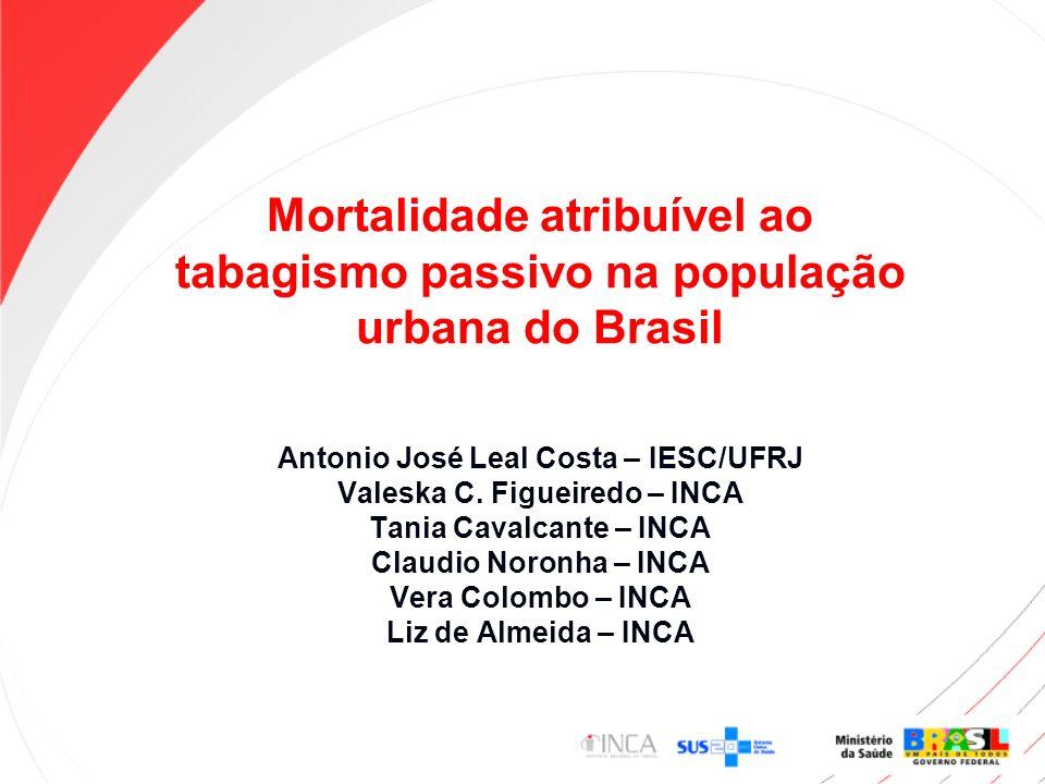 Mortalidade atribuível ao tabagismo passivo na população urbana do Brasil
