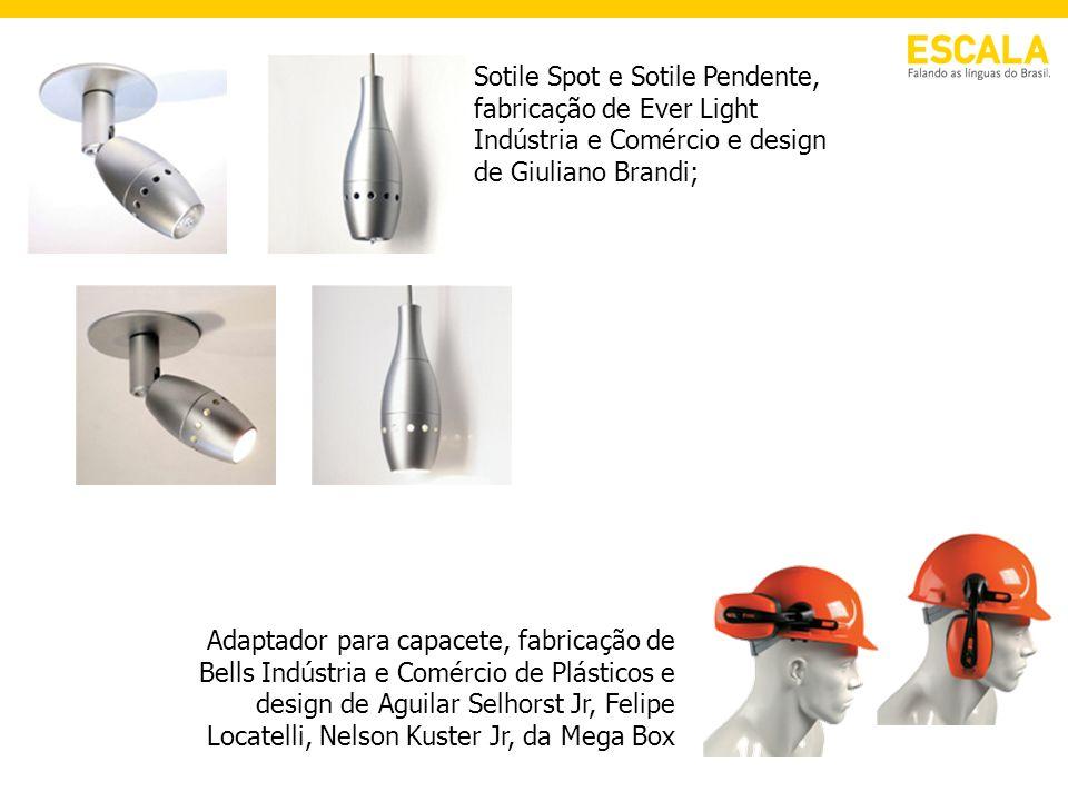 Sotile Spot e Sotile Pendente, fabricação de Ever Light Indústria e Comércio e design de Giuliano Brandi;