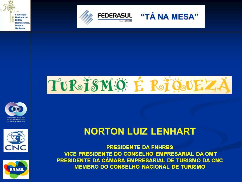 PRESIDENTE DA FNHRBS VICE PRESIDENTE DO CONSELHO EMPRESARIAL DA OMT