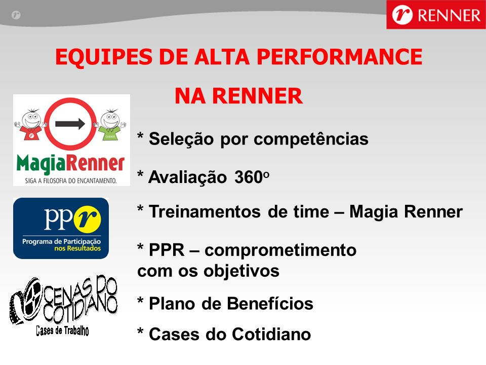 EQUIPES DE ALTA PERFORMANCE