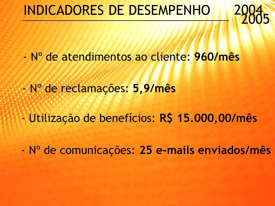 INDICADORES DE DESEMPENHO 2004 2005