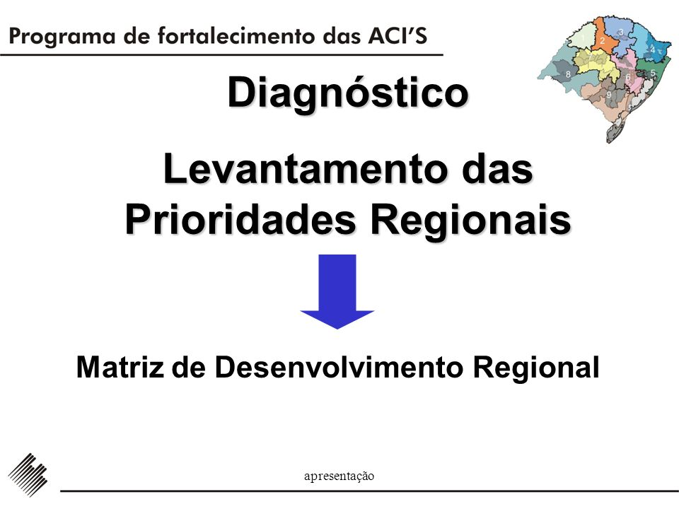 Diagnóstico Levantamento das Prioridades Regionais