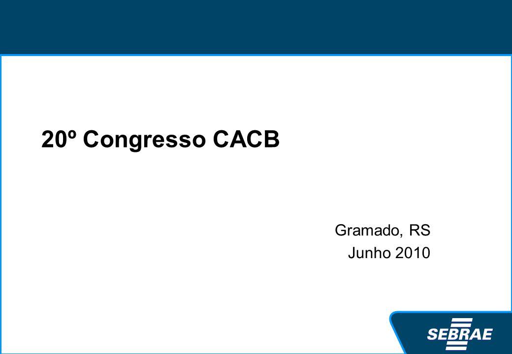 20º Congresso CACB Gramado, RS Junho 2010