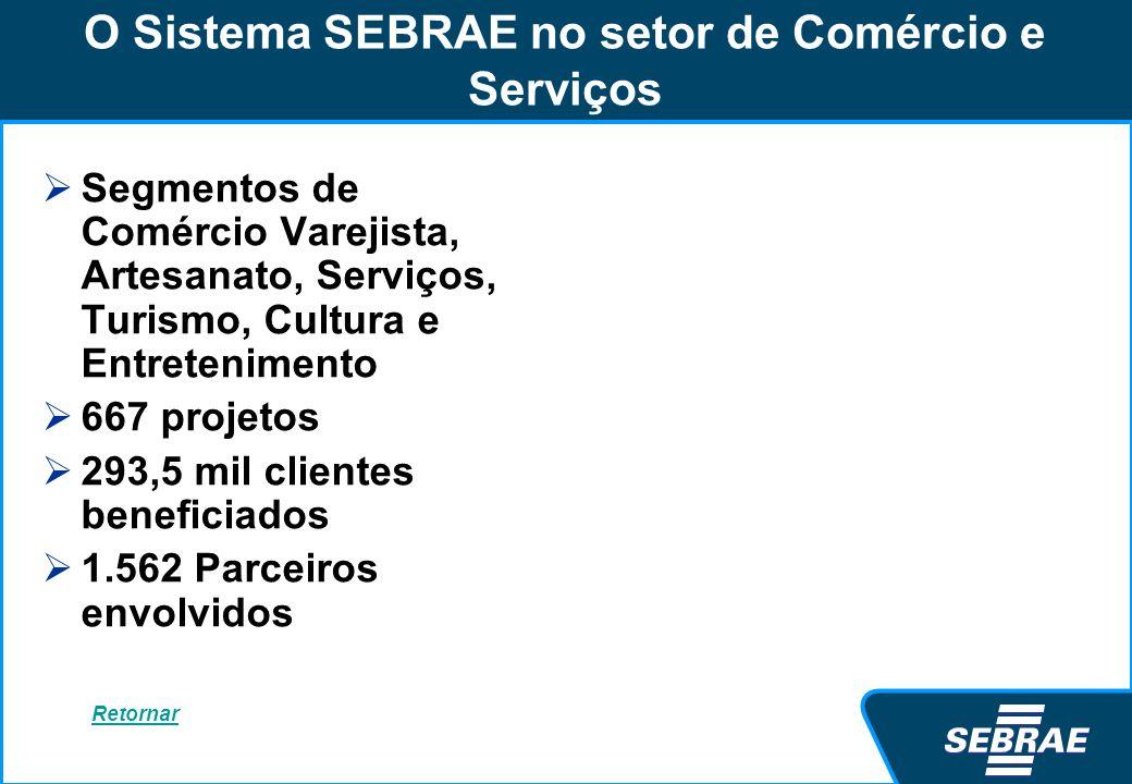 O Sistema SEBRAE no setor de Comércio e Serviços