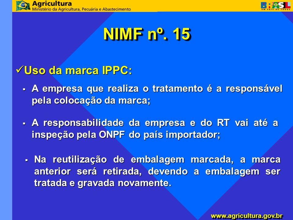 NIMF nº. 15 Uso da marca IPPC: