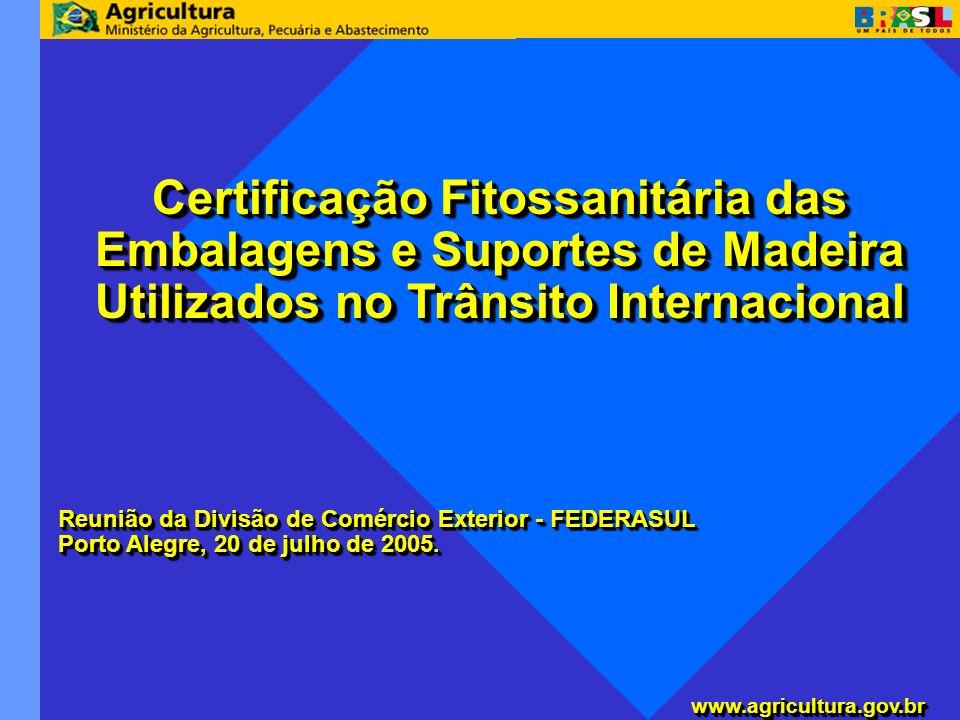 Certificação Fitossanitária das Embalagens e Suportes de Madeira Utilizados no Trânsito Internacional