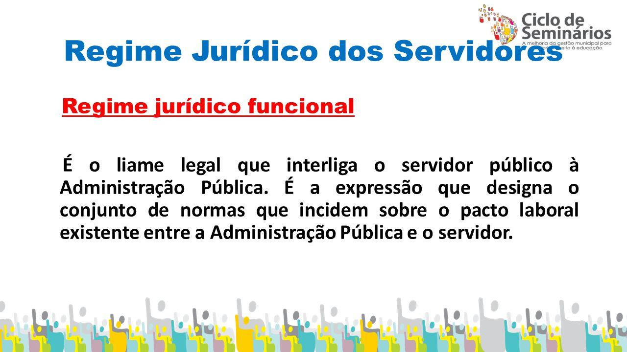 Regime Jurídico dos Servidores