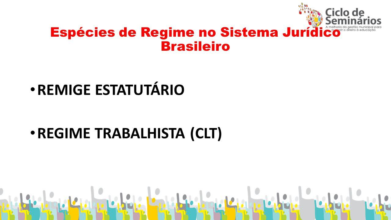 Espécies de Regime no Sistema Jurídico Brasileiro