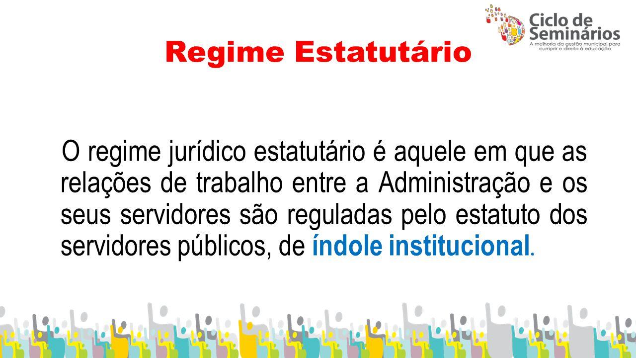 Regime Estatutário