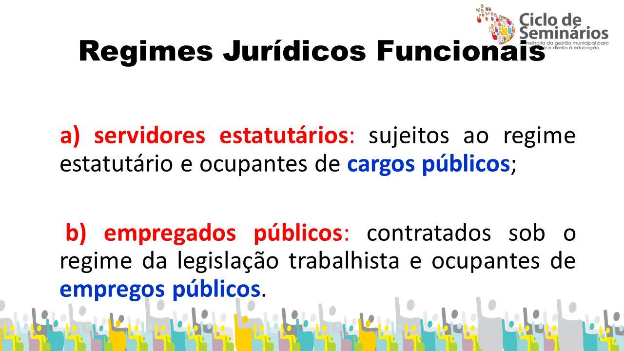 Regimes Jurídicos Funcionais