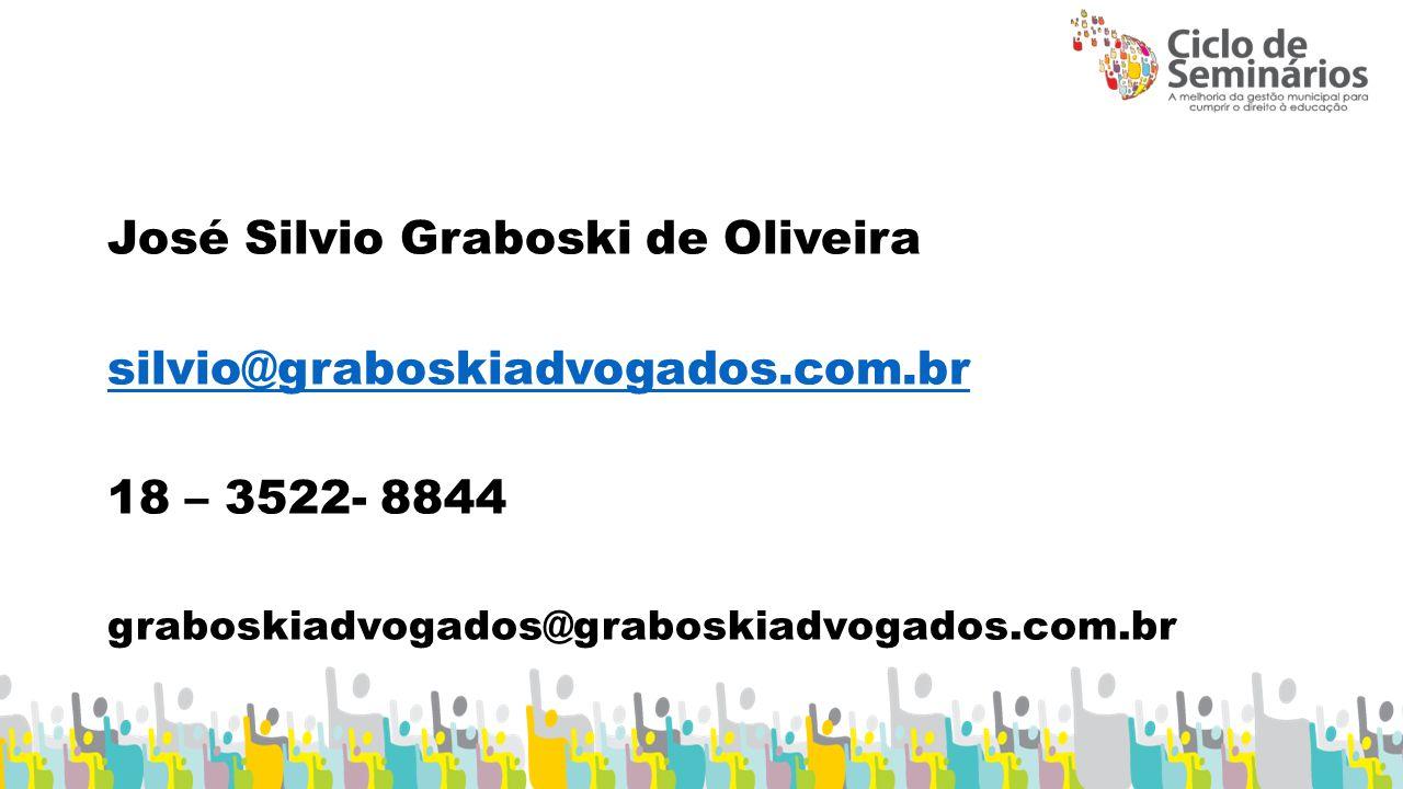 José Silvio Graboski de Oliveira silvio@graboskiadvogados.com.br