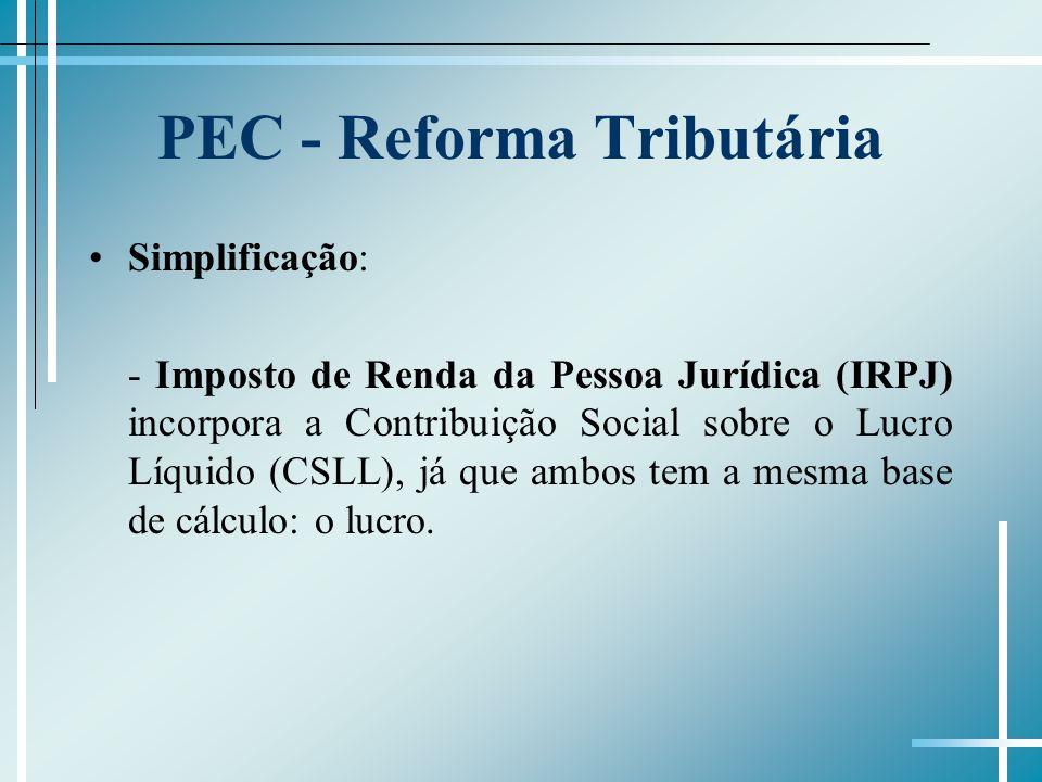 PEC - Reforma Tributária