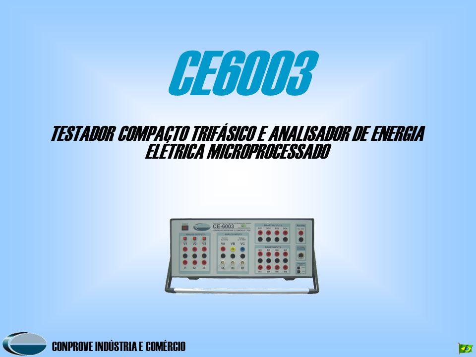 CE6003 TESTADOR COMPACTO TRIFÁSICO E ANALISADOR DE ENERGIA ELÉTRICA MICROPROCESSADO
