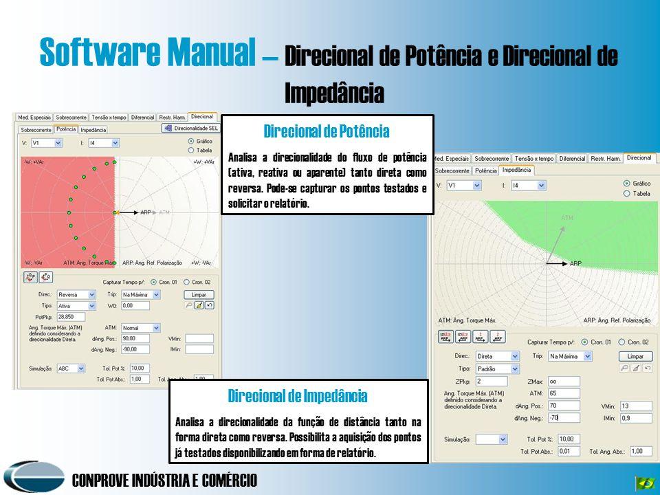 Software Manual – Direcional de Potência e Direcional de Impedância