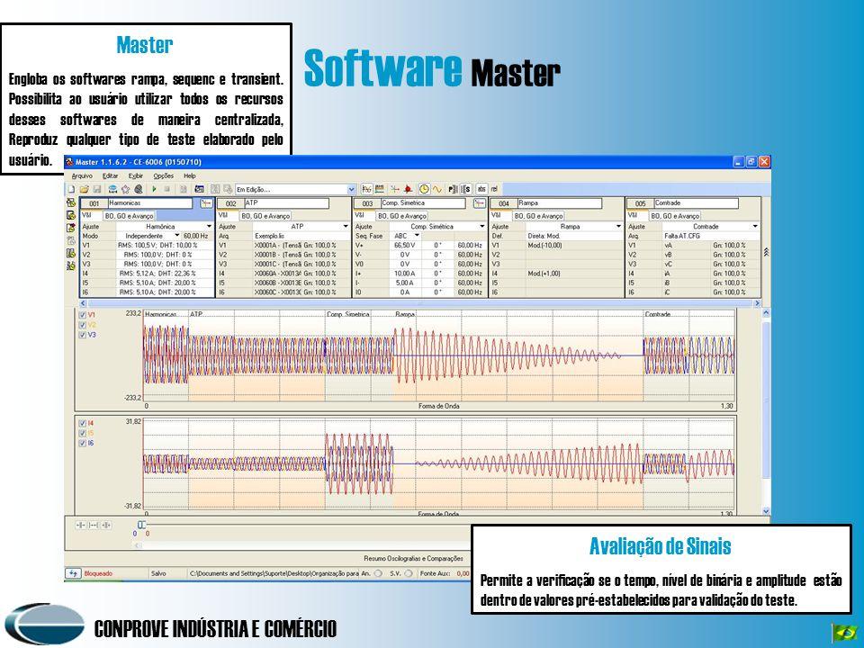 Software Master Master Avaliação de Sinais