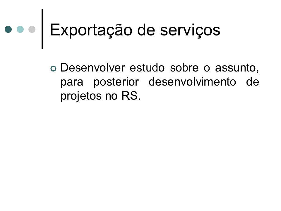 Exportação de serviços