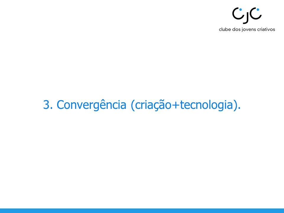 3. Convergência (criação+tecnologia).