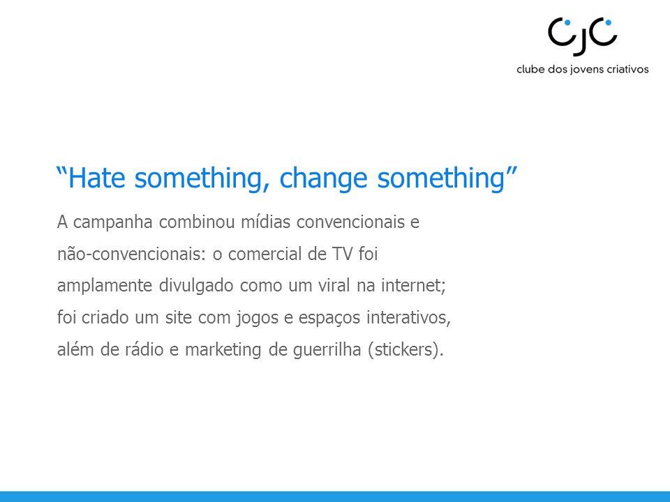 Hate something, change something
