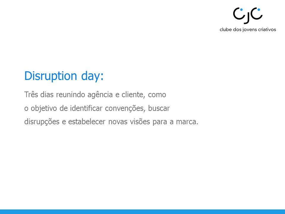Disruption day: Três dias reunindo agência e cliente, como