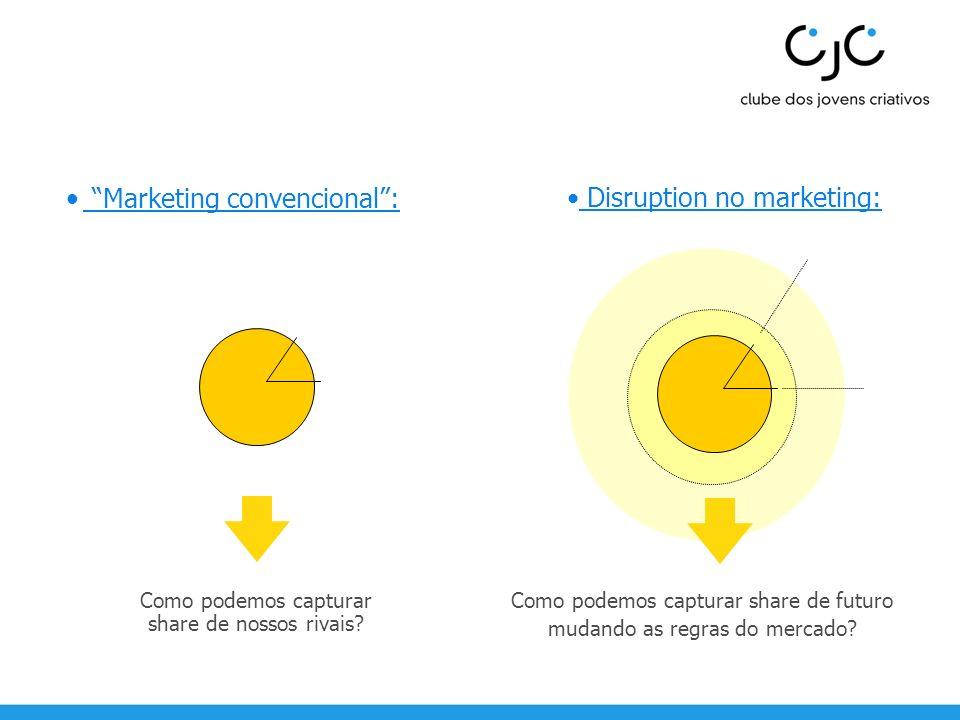 Marketing convencional : Disruption no marketing:
