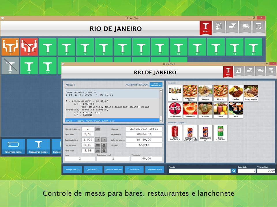 Controle de mesas para bares, restaurantes e lanchonete