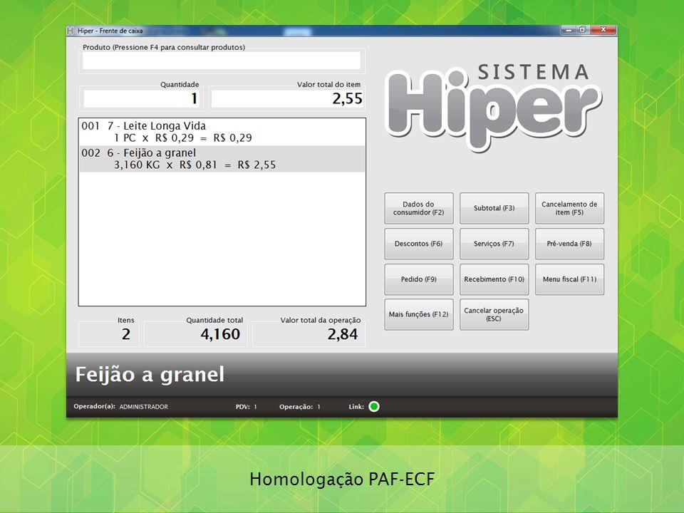 Homologação PAF-ECF