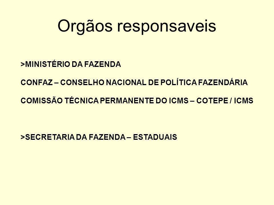 Orgãos responsaveis >MINISTÉRIO DA FAZENDA