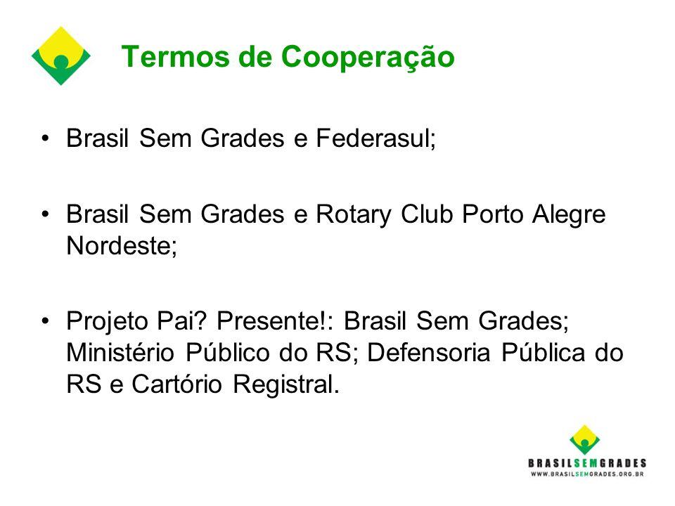 Termos de Cooperação Brasil Sem Grades e Federasul;