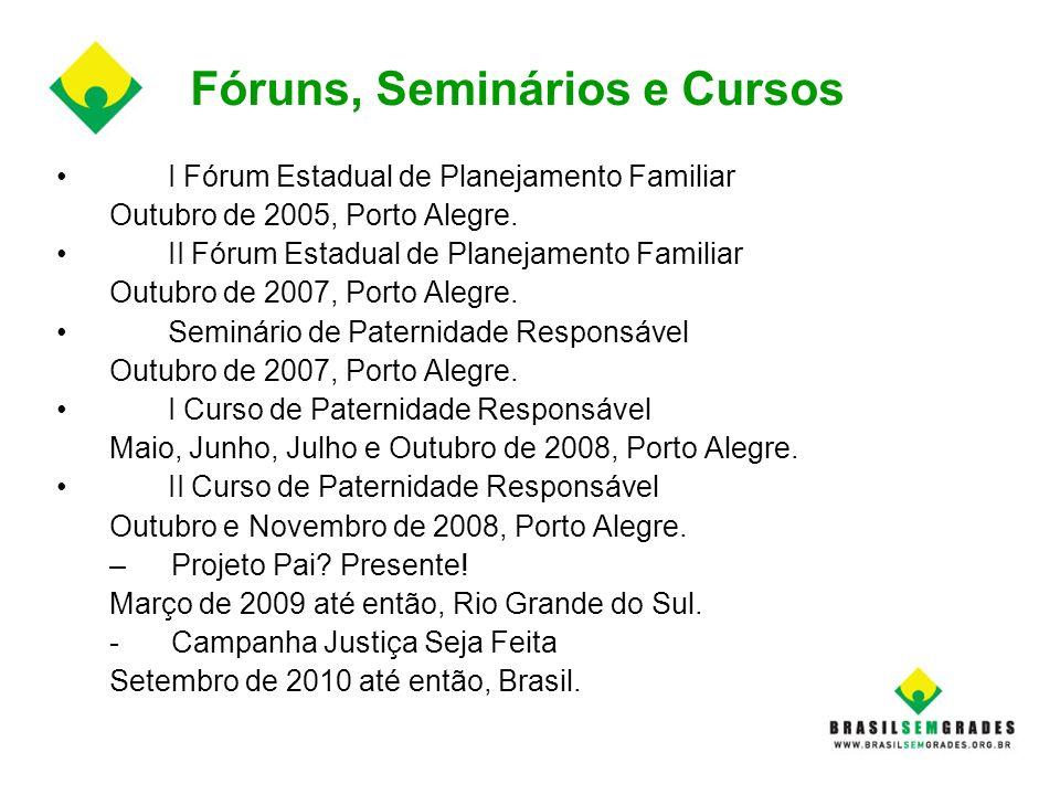 Fóruns, Seminários e Cursos
