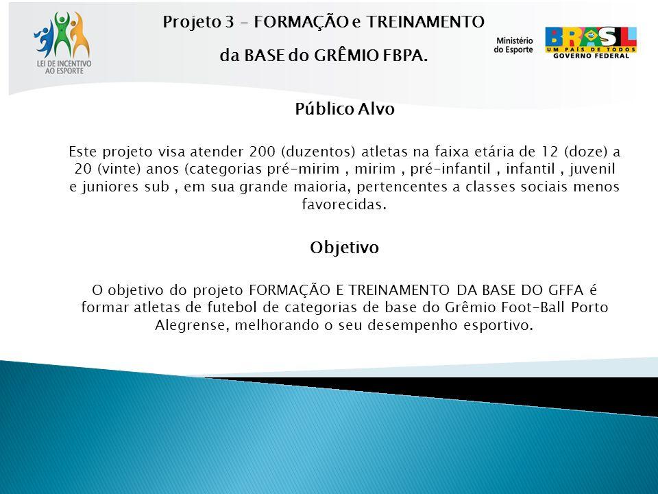 Projeto 3 – FORMAÇÃO e TREINAMENTO