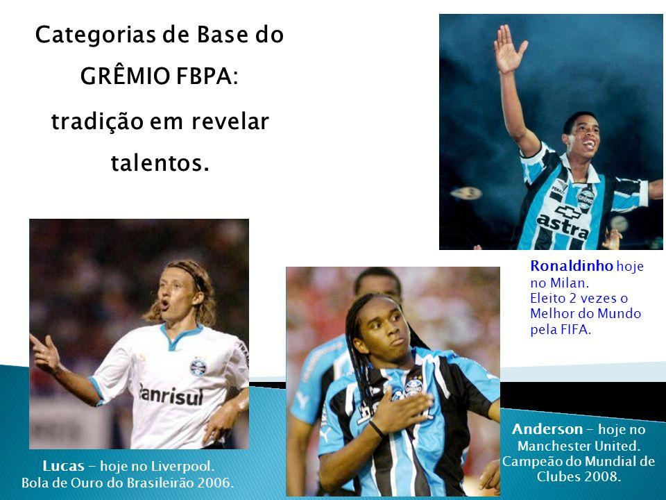 Categorias de Base do GRÊMIO FBPA: tradição em revelar talentos.
