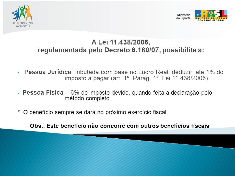 regulamentada pelo Decreto 6.180/07, possibilita a: