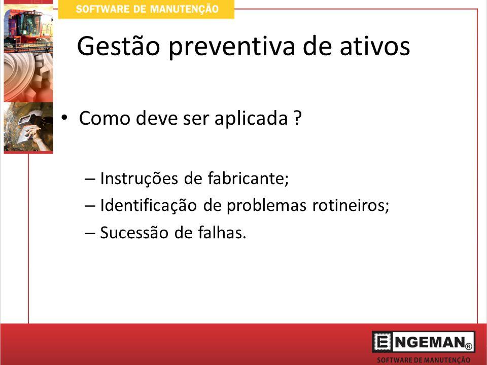 Gestão preventiva de ativos